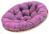 Rattani SEAT CUSHION FOR Papasan Chair Replacement Cushion Papasan D 120cm Dark Purple