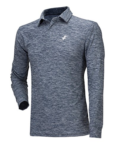 38d10b8b Jolt Gear, Men's Dry Fit Long Sleeve Polo Golf Shirt, Moisture Wicking