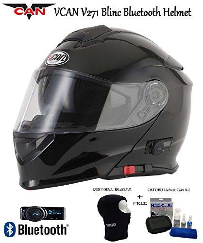 VCAN V271 BLINC BLUETOOTH FLIP FRONT HELMET New Motorbike MP3 SAT NAV FM...