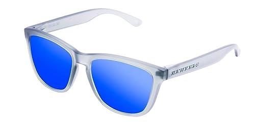 Hawkers Frozen Grey Sky One, Gafas de Sol Unisex, Gris/Azul