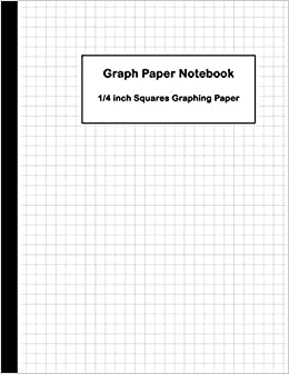 amazon graph paper notebook 1 4 inch squares graphing paper