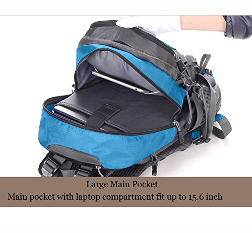 with Mountaineering Hiking Trekking Camping Rain Backpack Backpack Rucksack 40L Climbing Blue Waterproof Bag Outdoor Cover Traveling RwvqdvC7
