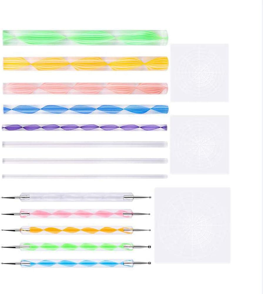 SUPVOX Dotting Pen Indentation Pen Template Clay Tool Set for DIY Painting Pottery Clay 16pcs