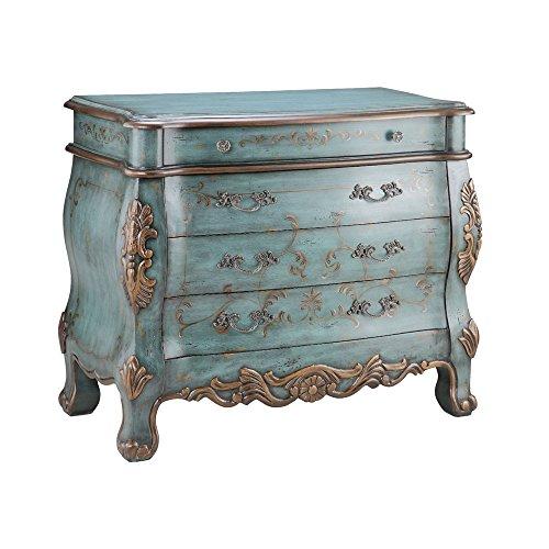 Stein World Furniture Freya Bombe Chest, Vintage Turquoise/Bronze (Bombe Hall Chest)