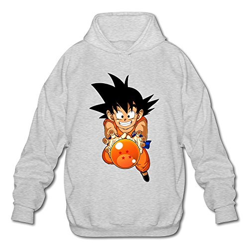 [AOPO Dragon Ball Z Resurrection F Son Goku Men's Long Sleeve Hooded Sweatshirt / Hoodie XX-Large] (Super Saiyan Goku Wig)