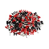 uxcell 100pcs Red Black Vehicle Car Battery Insulated Test Clamps Alligator Clips