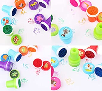 9snail 40pcs. self-ink sellos Kids Party Favors caso ...