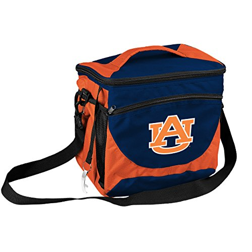 Logo Brands NCAA Auburn Tigers 24-Can Cooler with Bottle Opener and Front Dry Storage Pocket (Tigers Auburn Bottle)