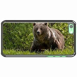 iPhone 5C Black Hardshell Case grass walk large Desin Images Protector Back Cover