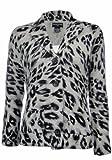 Sutton Studio Women's 100% Cashmere Leopard Sweater Jacket XL