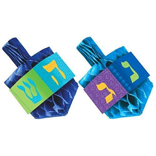 Hanukkah Honeycomb Paper Dreidel Centerpiece Set, 2 Ct.   Party Decoration -