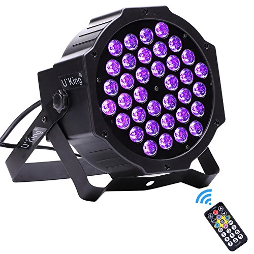 U`King Black Lights 36LEDs x 3W UV Bar by DMX IR Remote Control and Sound Activated for Party DJ Stage Lighting