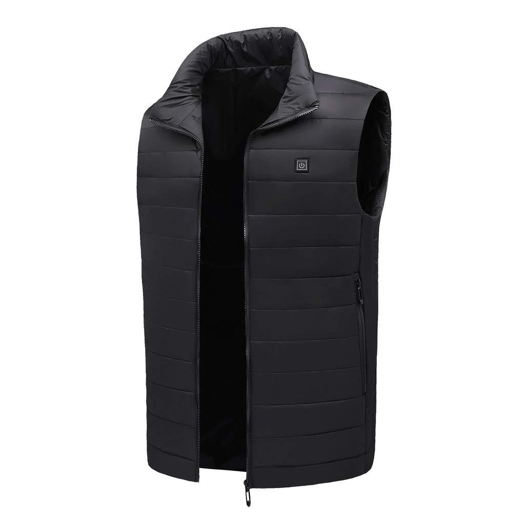 Ohbiger Men's Lightweight Heated Vest,USB Electric Heating Vest Jacket