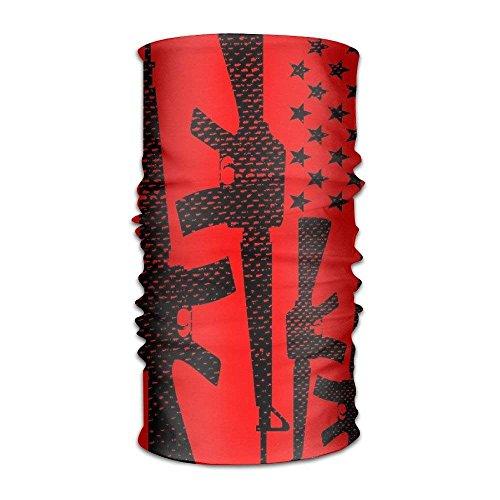 THAIDIY DahelinG Unisex Stylish Gun USA American Flag Cool Quick Dry Microfiber Headwear Outdoor Magic Bandana As Neck Gaiter Head Wrap Headband Scarf Face Mask Ultra Soft Elastic One Size