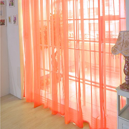 AMOFINY Home Decor 1 PCS Pure Color Tulle Door Window Curtain Drape Panel Sheer Scarf Valances from AMOFINY-Home Decoration