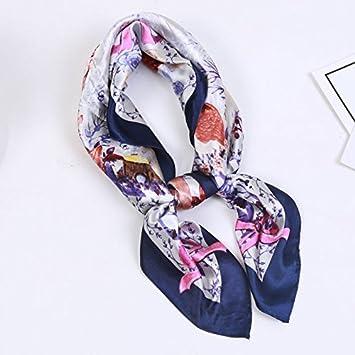 RU Écharpe femme La Petite Fille Foulard en Soie Un Design élégant et  Simple Couple Noir ca56e804d55