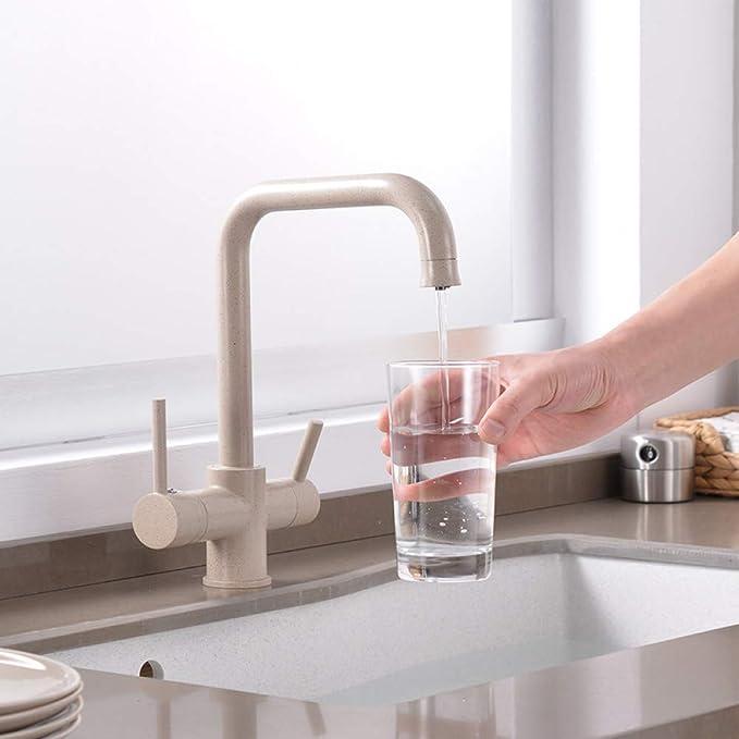 WHFDRHSLT Grifo Cocina Purificador de agua Grifo con grifo de agua ...