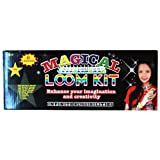 Magical Loom with Rainbow Colors Includes Loom, Hook, Bands, Clips & Charms