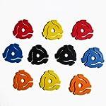(10 Pack) TEN Mixed Color Plastic 45...