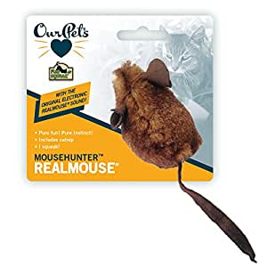 OurPets Original Play-N-Squeak MouseHunter Interactive Cat Toy