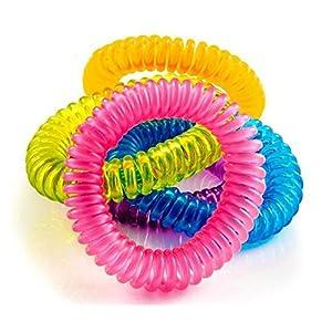 Da.WA bracciali braccialetti anti-zanzare completamente naturale e impermeabile per adulti e bambini 10pezzi 11 spesavip