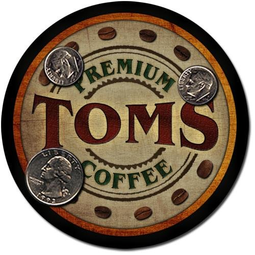 Toms Family Name Coffee Drink Coasters - 4 Pack