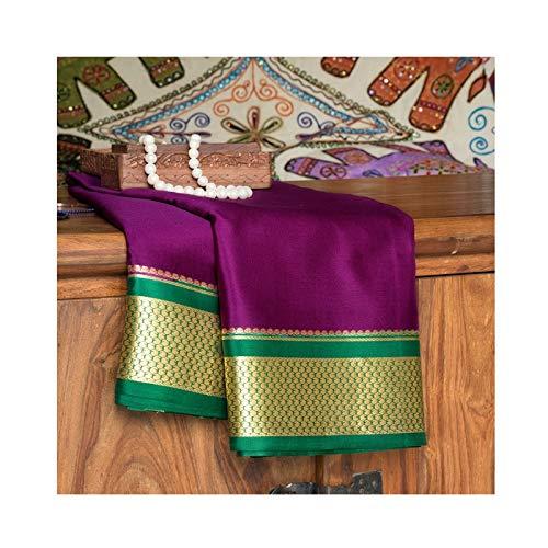 Naanjil Handloom Brinjal Mysore Silk Saree