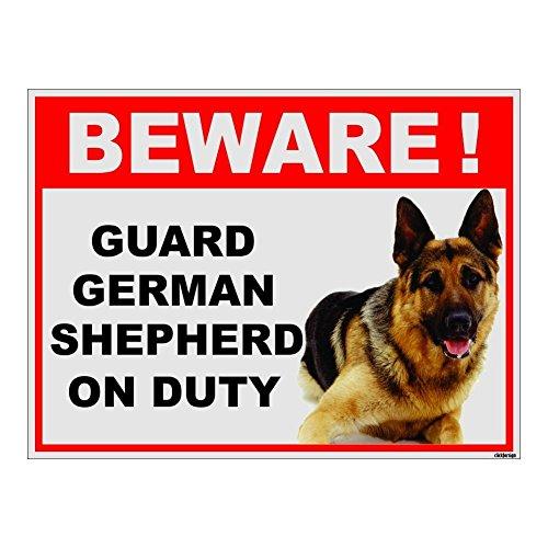 Clickforsign BOD-REF-BIG-SB-5 Beware of Guard Dog German Shepard on Duty Sign Price & Reviews