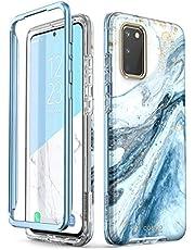 i-Blason Hoesje Samsung Galaxy S20 Glitter Case [Cosmo Series] Beschermhoes voor Samsung Galaxy S20 4G/5G 2020, Zonder Screenprotector, Blauw