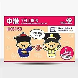 China & Hong Kong 7-Day Data SIM
