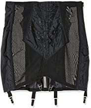 Rago Shapewear Women's Plus-Size High Waist Open Bottom Girdle with Zi