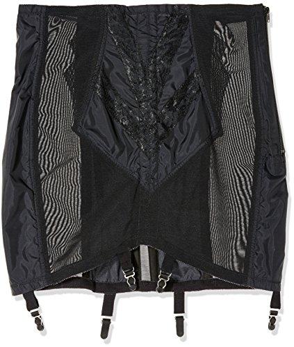 Rago Women's Plus-Size High Waist Open Bottom Girdle with Zipper, Black, 3X-Large (36)