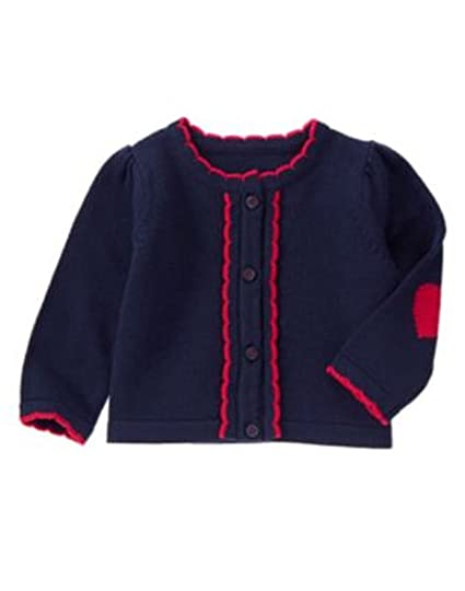 82b74df395a8 Gymboree Infant Girls Scalloped Trim Cardigan Sweater- Navy - Size 0 ...