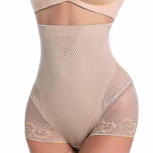 Panty Satin Shapers (AVENBER Corsets for Women High Waist Tummy Shapewear Butt Lifter Control Panty Shaper)