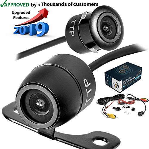 TOPTIERPRO Upgraded Mini Backup Camera 170° Viewing Angle Multi-Function Car Reversing Rear View/Side View/Front View & Security Pinhole Spy Camera ()