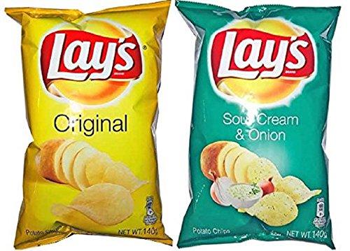 프리 쟁반 레이스 포테이토 팁(칩)《스》 짠맛&sour 크림&오니(귀신) 온 맛각1 포세트