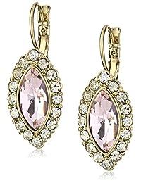 1928 Jewelry Gold-Tone Crystal Leverback Drop Earrings