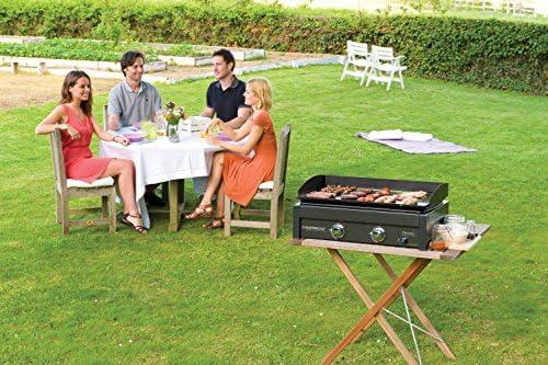 Campingaz Plancha Gaz L, 2 Brûleurs en Acier, BBQ de Table, Puissance 7.5kW, Grille Portable, Large Plancha à Revêtement Anti adhésif, Cuisson Teppanyaki