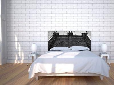 Brooklyn Bridge Slipcover Fabric Headboard - King Bed