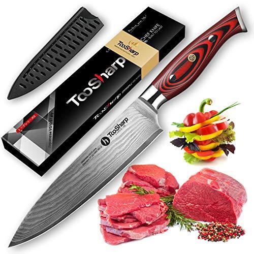 TooSharp Damascus Chef Knife, 8