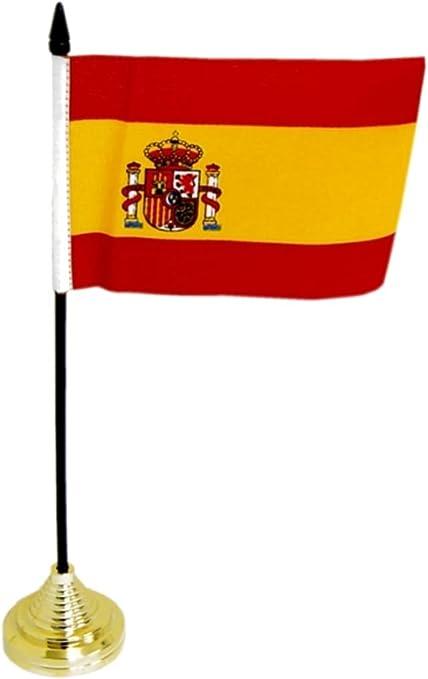 Bandera de mesa de España: Amazon.es: Deportes y aire libre