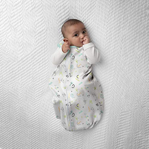 SwaddleMe Night Sack Sleeper – 6-12 Months, 1-Pack (Alphabet) Loose-fit Infant Sleep Sack Wearable Blanket Leaves Baby's Arms Out for Safe, Cozy Sleep