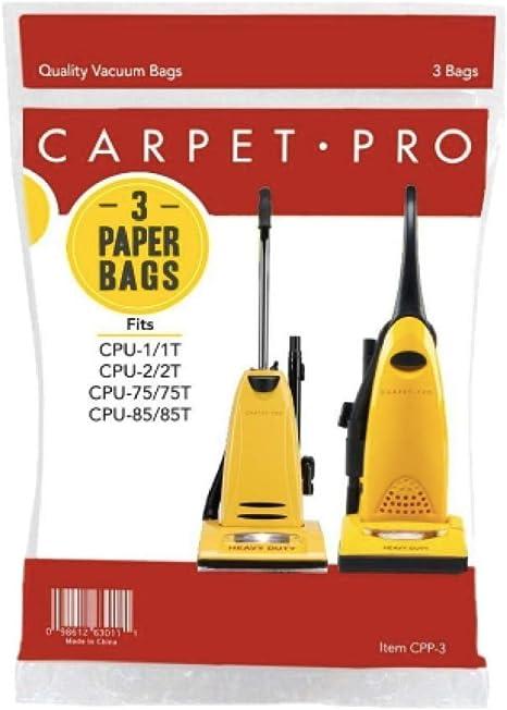 Carpet Pro 2 Ply Upright Vacuum Bags CPP-6