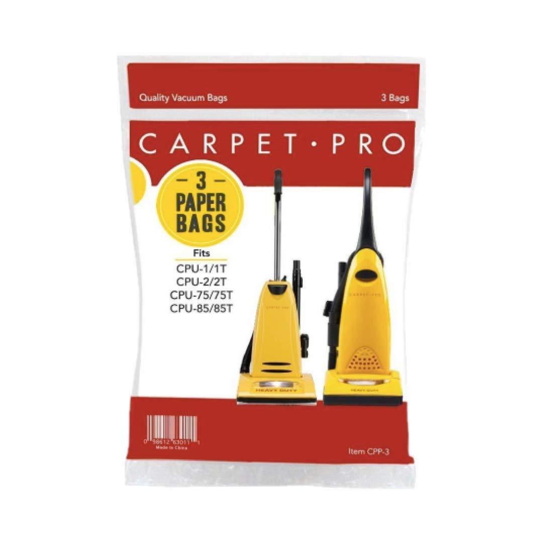 Genuine Carpet Pro Upright Vacuum Bag-3Pk CPU-1 1T CPU-2 2T