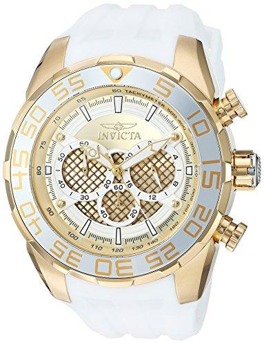 (Invicta Men's Speedway Stainless Steel Quartz Watch with Silicone Strap, White, 32 (Model: 26303))
