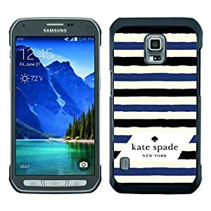 customized Samsung Galaxy S5 Active Case Cover, Fashion Stylish DIY Kate Spade 34 Black Case Cover For Samsung Galaxy S5 Active