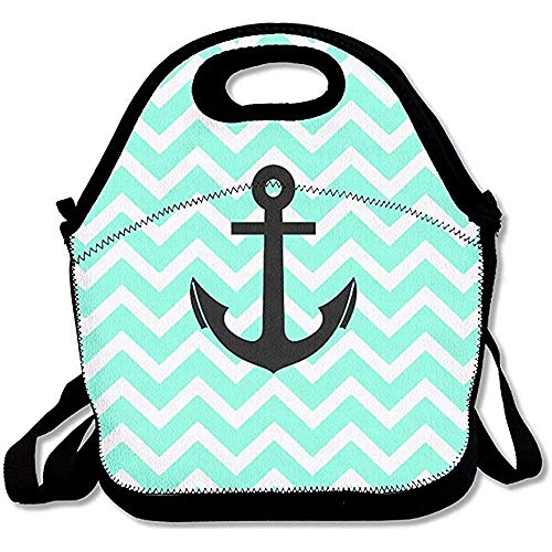 - Pansyhome Cute Anchor Printing Lunch Bags Insulated Zip Cooler Bag Insulated Reusable Lunch Box Portable Lunch Tote Bag Handbag Meal Bag for Kids Boys Girls Adult Men Women