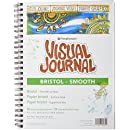 Strathmore Visual Journal Spiral Bound Art Pad, 9 by 12-Inch, Bristol Smooth