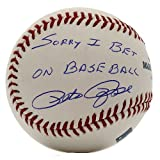 Pete Rose Autographed Rawlings Official MLB Baseball - Sorry I Bet On Baseball Inscription - PSA/DNA Certified Authentic