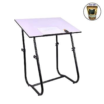 Mesa de dibujo de escritorio, mesa de manualidades ajustable ...
